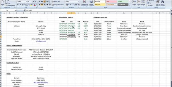 How To Maintain Accounts In Excel Accounts Receivable Excel