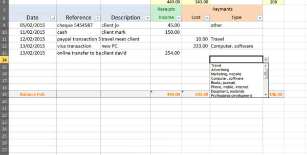 Simple Accounting Spreadsheet Excel Accounting Spreadsheets Free