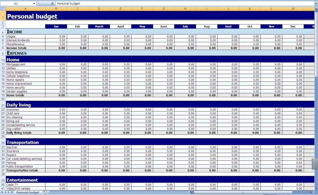 Crown Financial Budget Sheet Financial Budget Spreadsheet Template