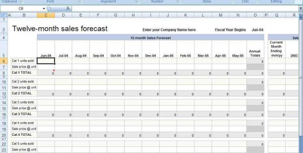 Forecasting Templates Excel Free Forecast Spreadsheet Template
