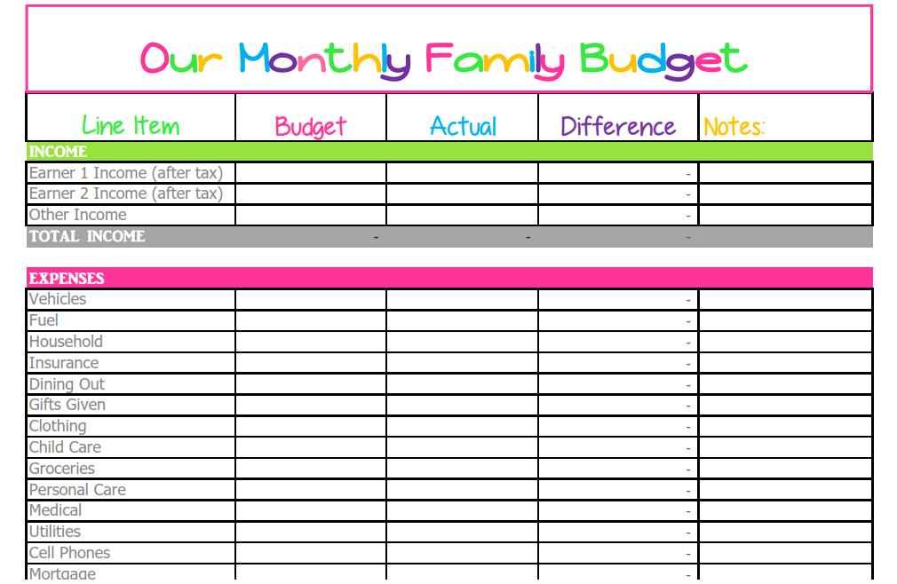 free home budget worksheet - Akbakatadhin - home budget spreadsheet