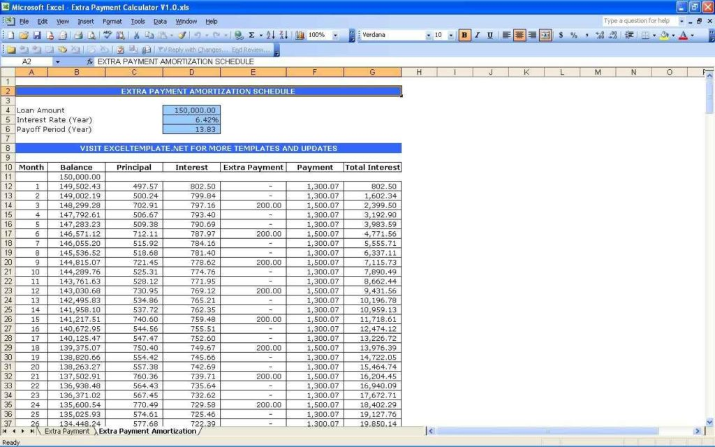 Loan Payment Tracking Spreadsheet Loan Payment Spreadsheet Template