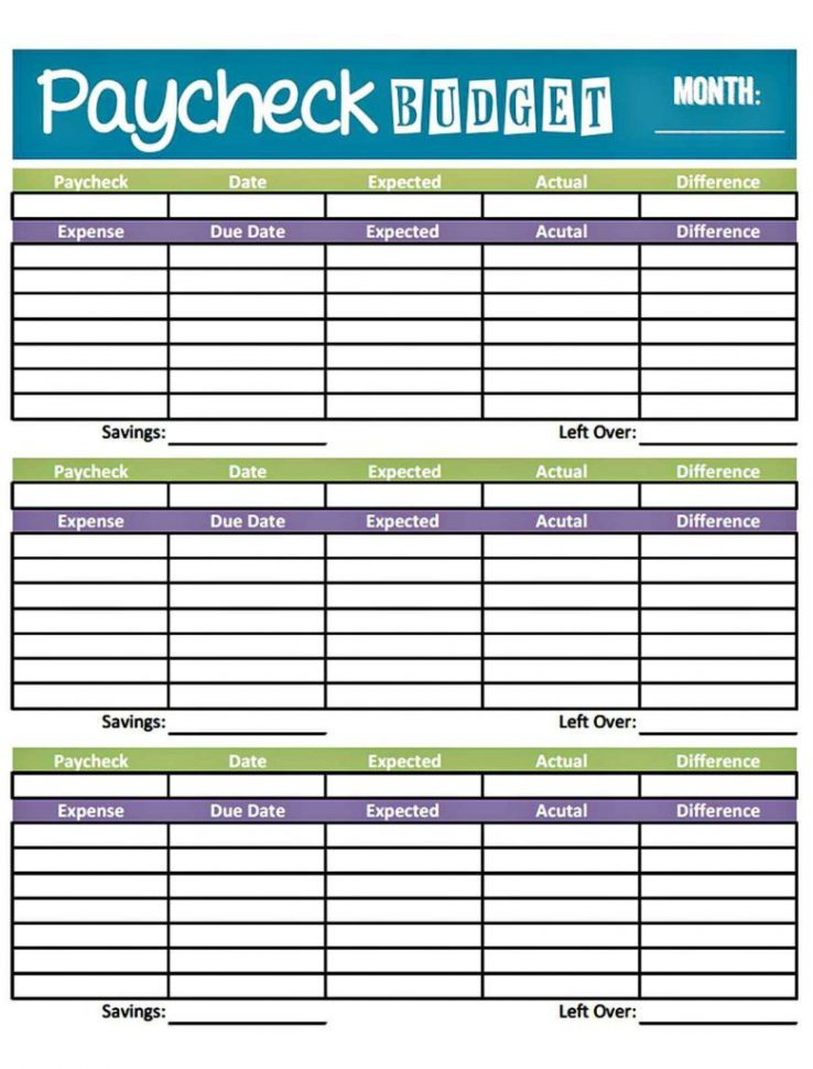 Monthly Budget Worksheet Example Monthly Budget Spreadsheet Template
