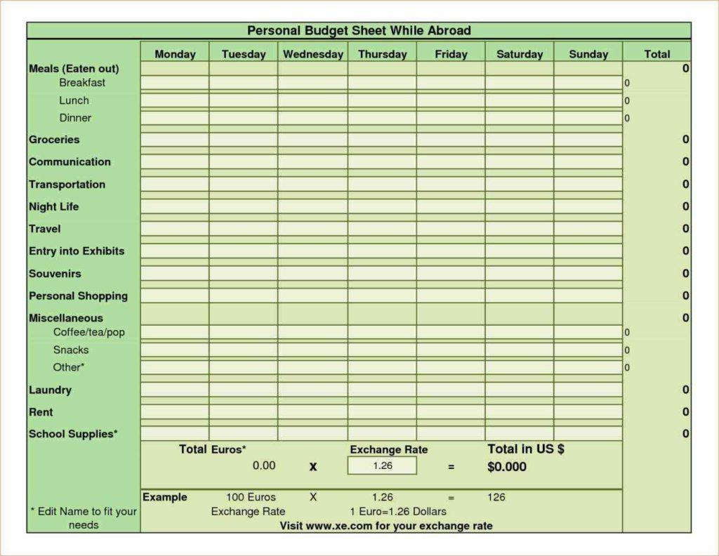 financial planning spreadsheet templates
