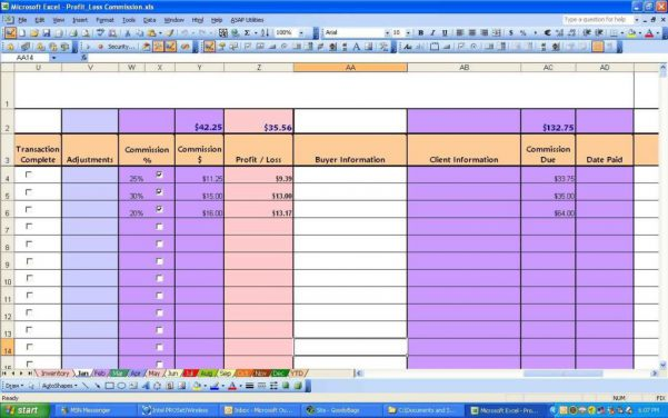 Profit And Loss Statement Template Free Profit Loss Spreadsheet