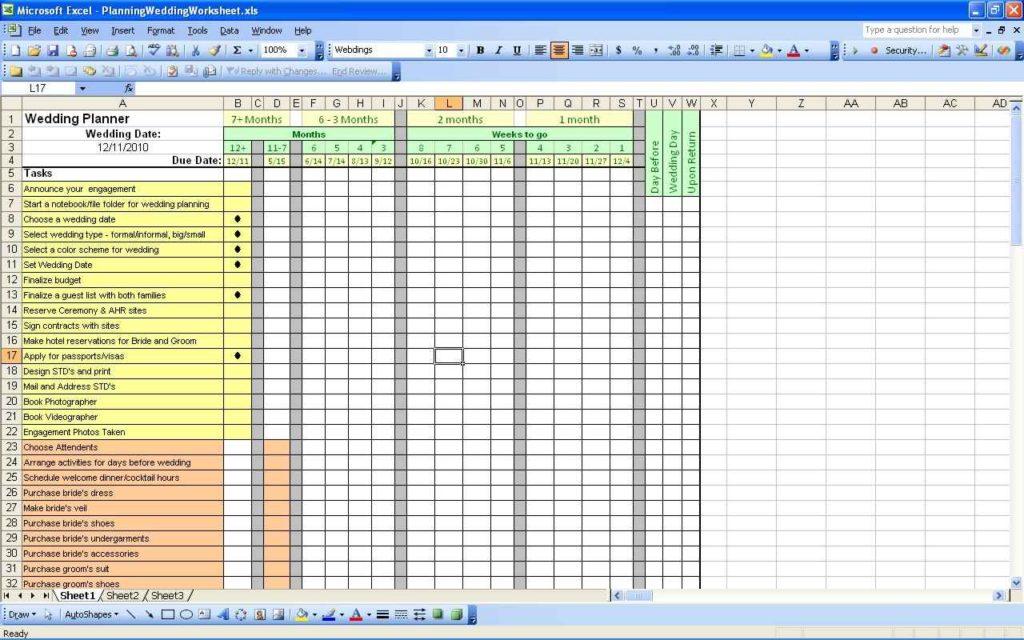wedding spreadsheets - Romeolandinez - wedding planning excel spreadsheet