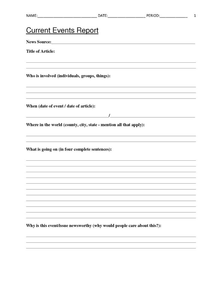 Best 25+ Current events worksheet ideas on Pinterest Current - problem report