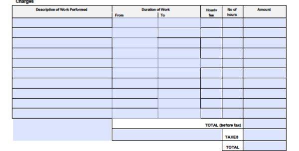 Labor Invoice Template Free Handyman Invoice Spreadsheet Templates