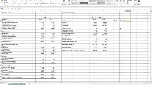 Excel Profit And Loss Template Profit Loss Spreadsheet Template