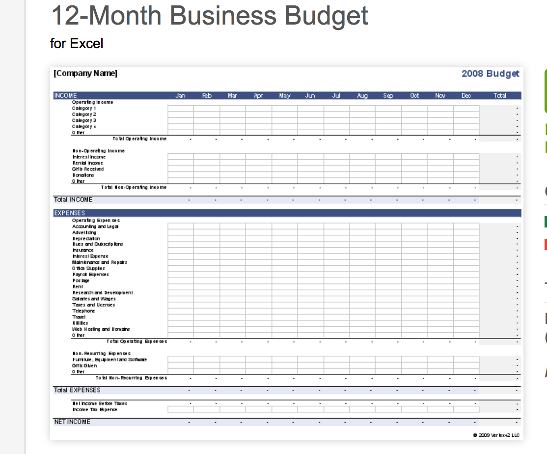 open office expense template