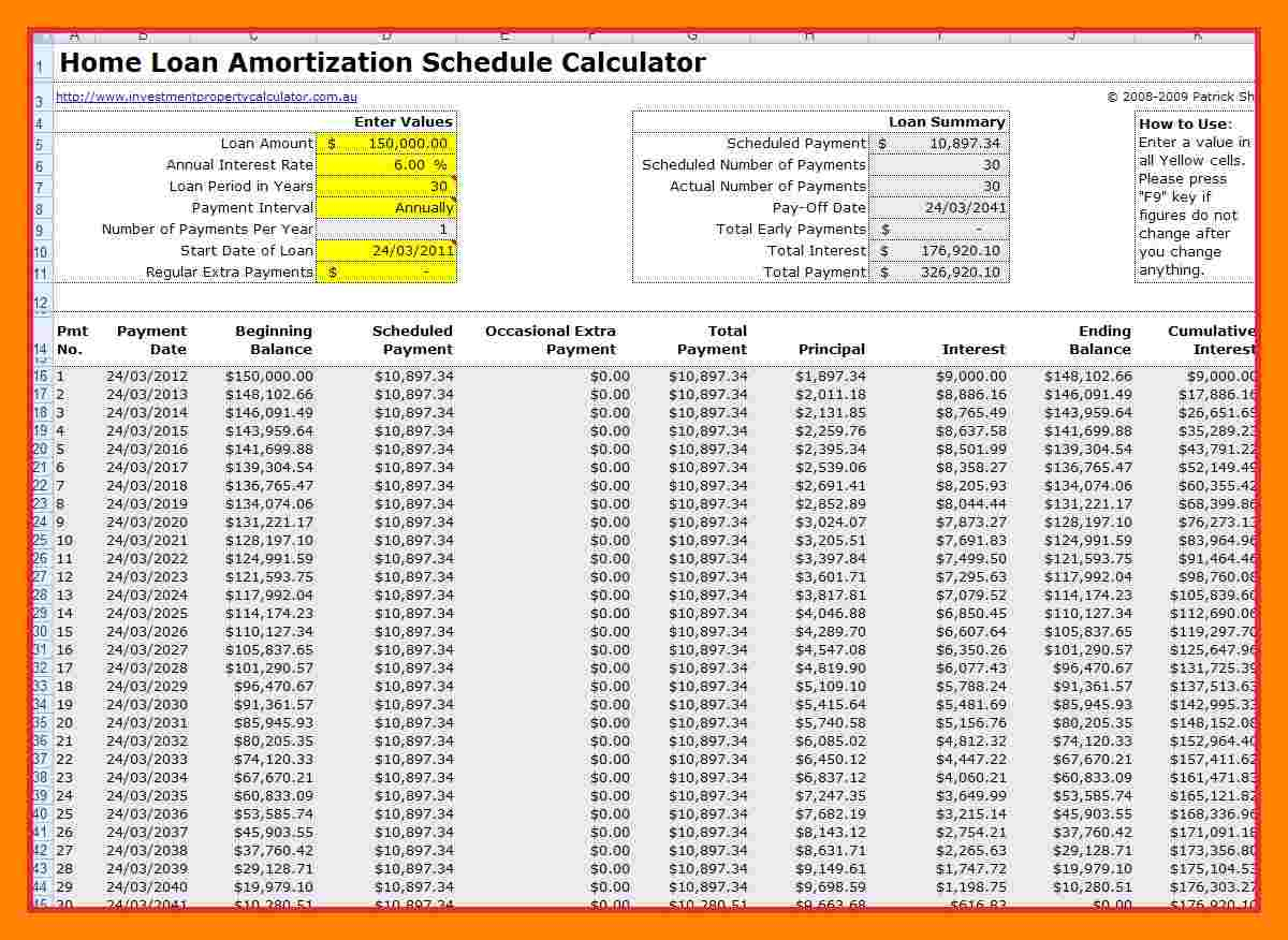 mortgage amortization calculator extra payments spreadsheet