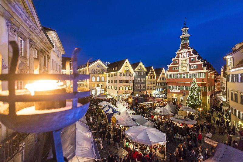 Esslinger Mittelaltermarkt Weihnachtsmarkt Urlaubsland