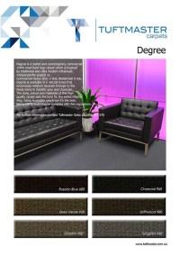 Degree - High density level loop wool carpet by TUFTMASTER