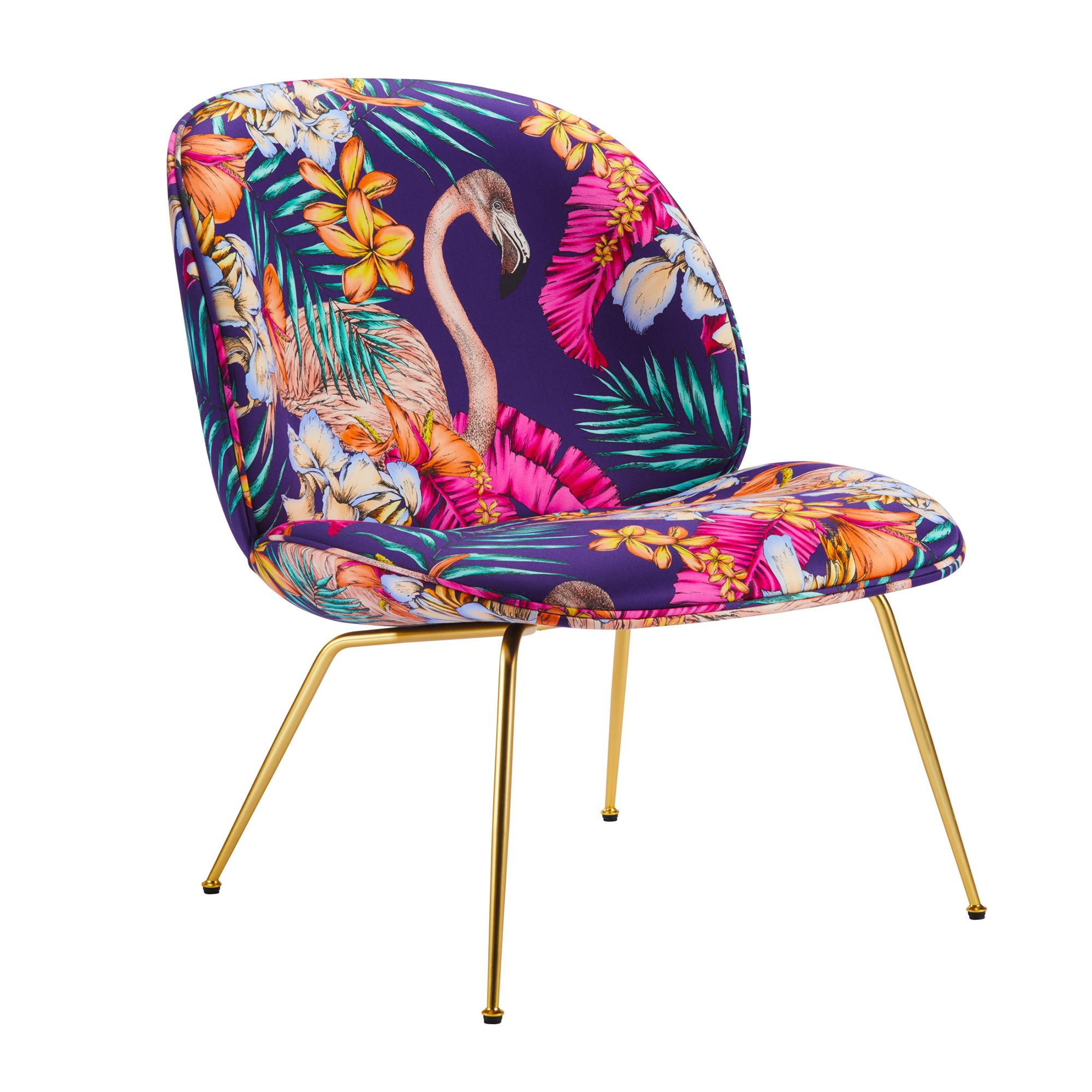 Lounge Sessel Stoff Gubi Beetle Lounge Sessel Stoff Gestell Messing Lila Stoff Flamingo Club F6790 06 Bxhxt 63x80x72cm Gestell Messing