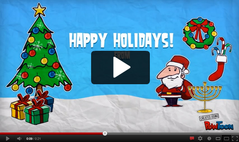 Powtoon - Cool Animated Presentation templaes - free images happy holidays