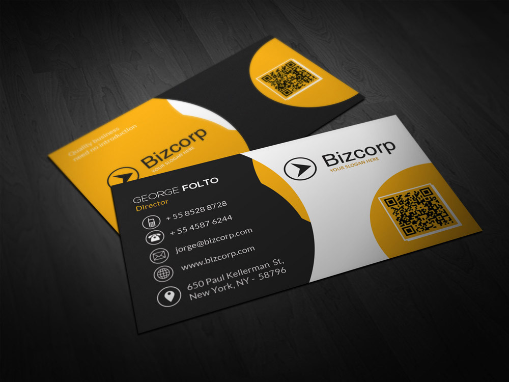 Double Sided Professional Business Card Design \u2013 Double Infinity - buisness card design