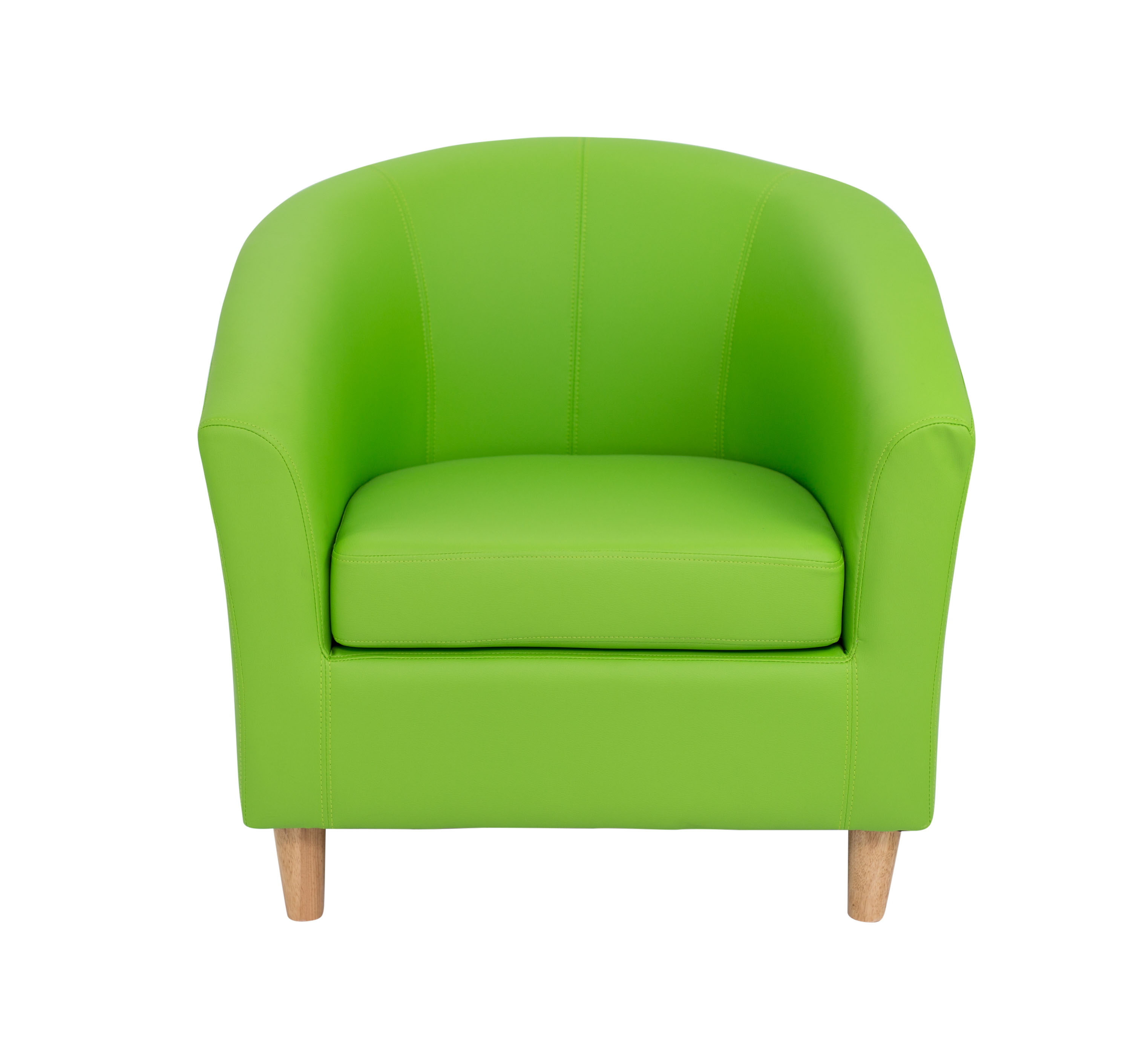 Rz Two Seater Sofa Or Armchair Faux Leather Lime Green Ebay