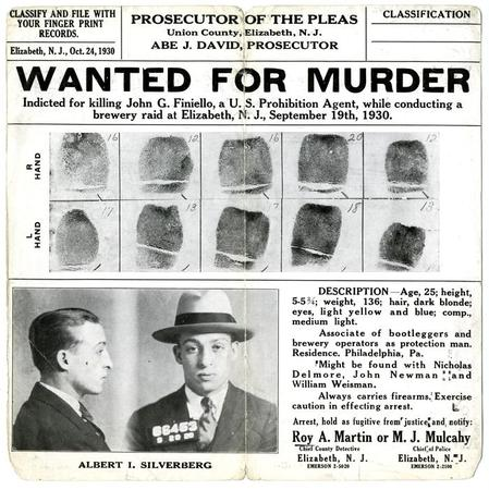 Wanted Poster for Albert I Silverberg Lloyd Sealy Library Digital