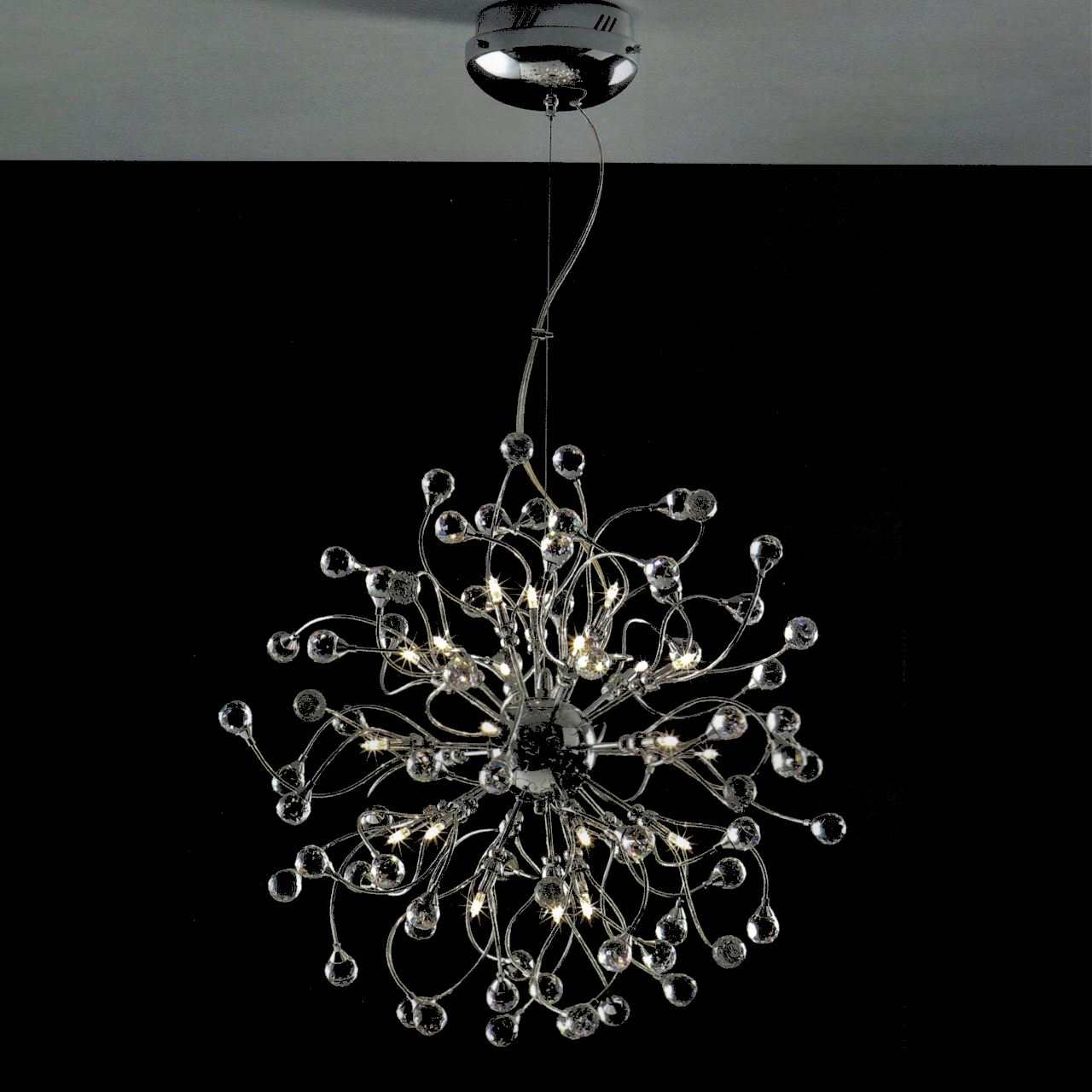 Modern Round Chandeliers Brizzo Lighting Stores 24 Quot Sfera Modern Crystal Round