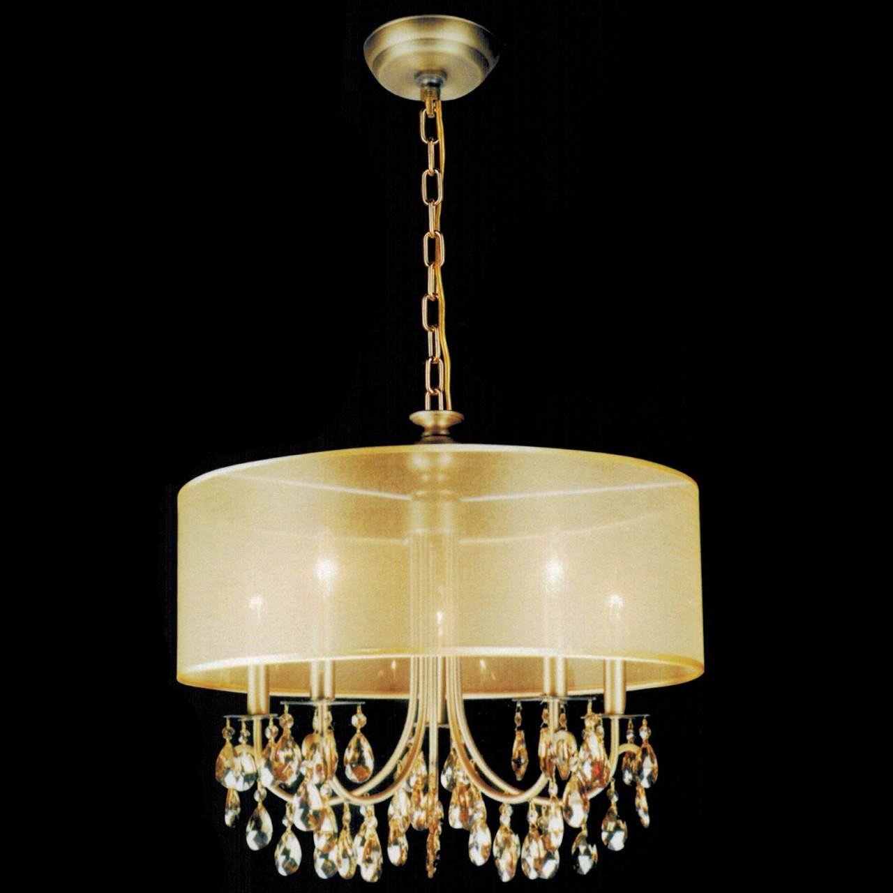 Modern Round Chandeliers Brizzo Lighting Stores 22 Quot Organza Contemporary Round