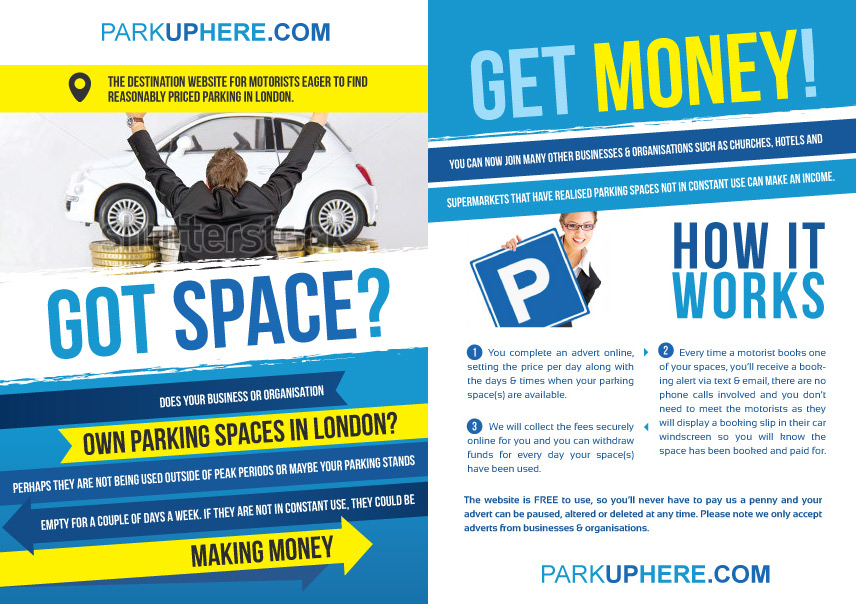 Elegant, Playful, Parking Flyer Design for a Company by Romain