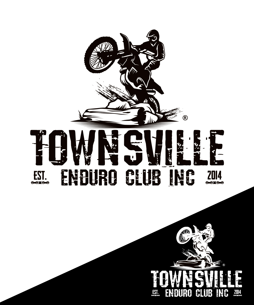 Motorcycle Racing Logo Design Masculine Upmarket Club Logo Design For Townsville Enduro Club