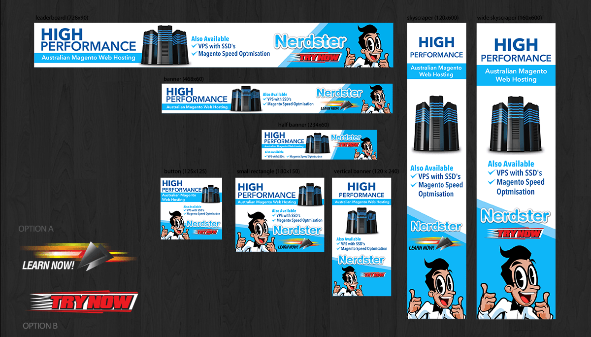 Banner ad design design 6153456 submitted to high performance webhosting google ad banners