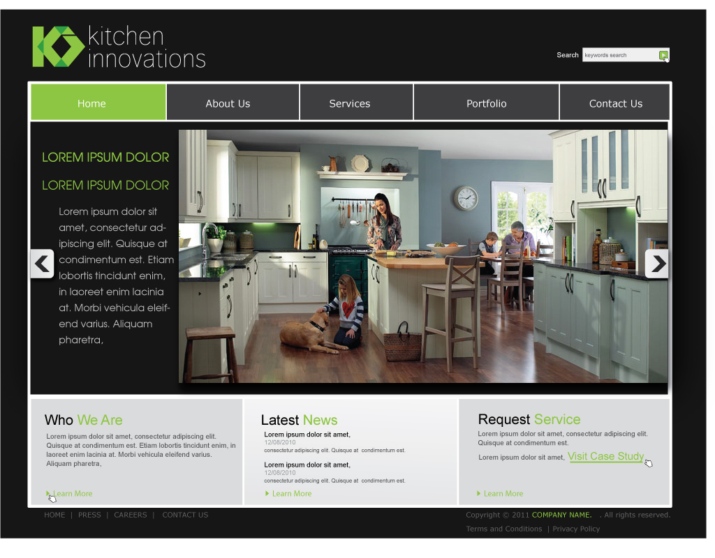Kitchen Layout Design Website Elegant Playful Kitchen Web Design For A Company By