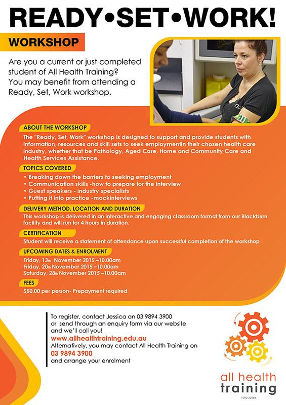 Modern, Professional, Training Flyer Design for All Health Training