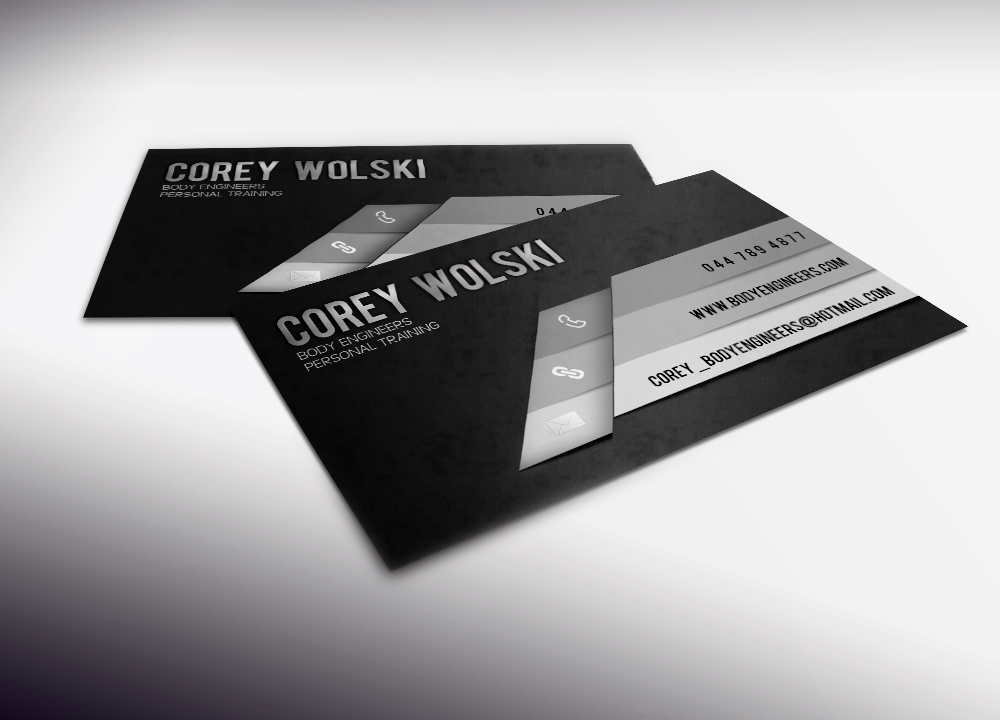 Professional, Bold, Personal Trainer Business Card Design for a