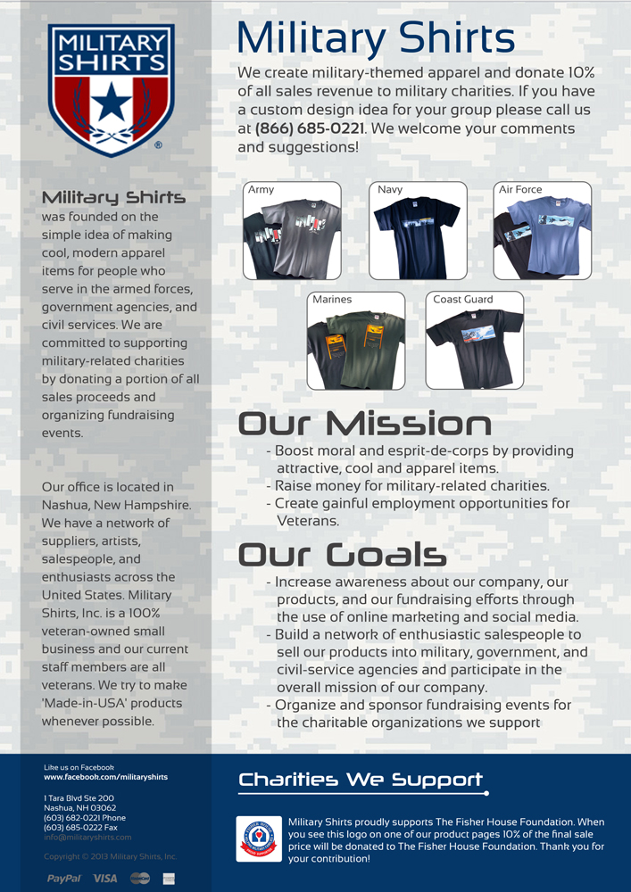 Small Business Flyer Design for Military Shirts by Jumar Ray