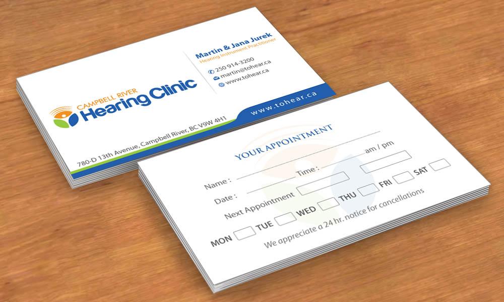 Elegant, Upmarket, Clinic Business Card Design for Campbell River