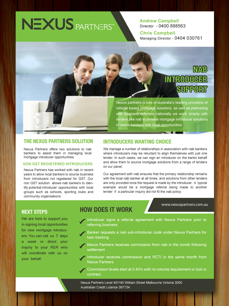 One Page Business Brochure Examples