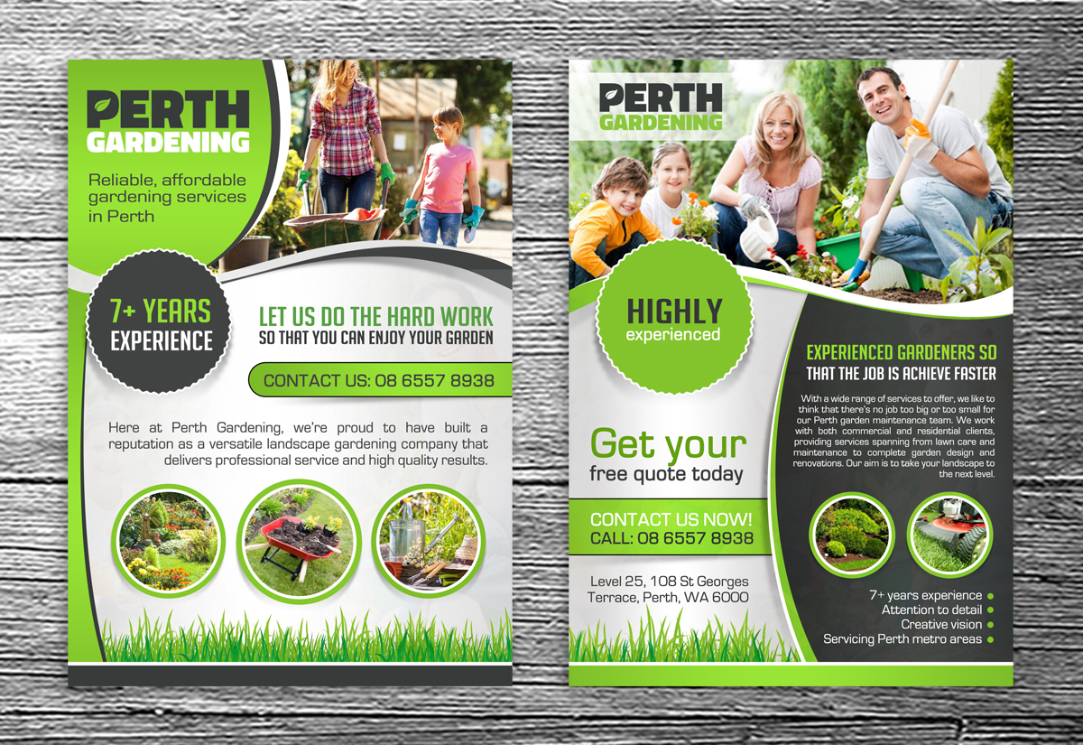 Bodacious Perth Landscaping Gardening Business Gardening Brisbane Landscaping Perth Landscaping Gardening Pty Ltd Landscape Gardening Flyer Design Flyer Design By Debdesign outdoor Landscaping And Gardening
