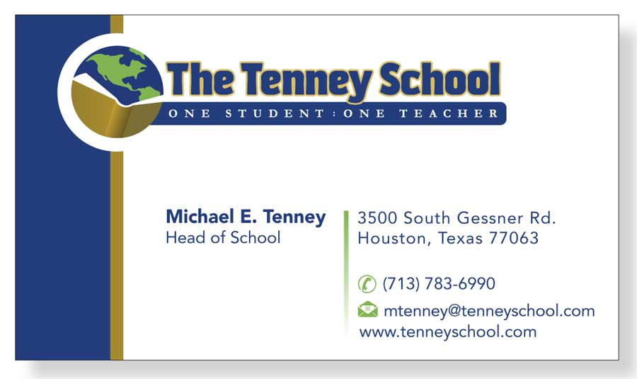 Serious, Traditional, Education Business Card Design for a Company
