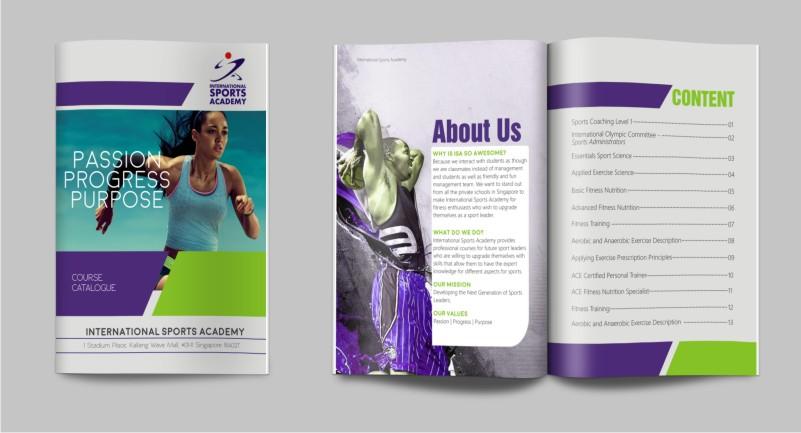 Modern, Bold, Education Brochure Design for a Company by hema dhawan - sports brochure