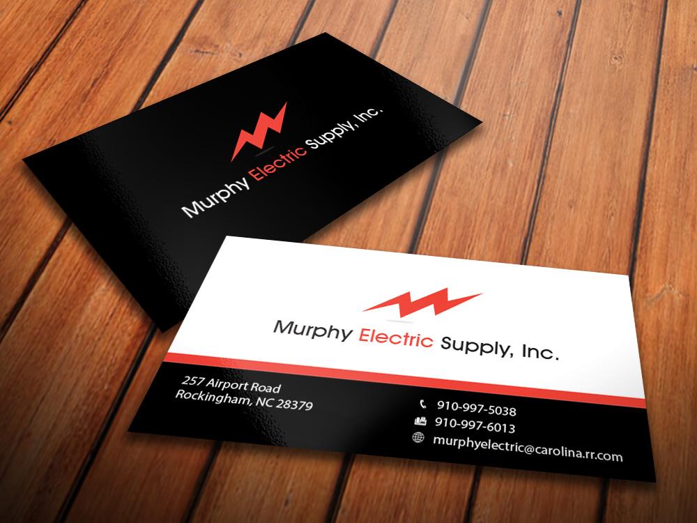 Elegant, Playful, Electrical Business Card Design for Murphy