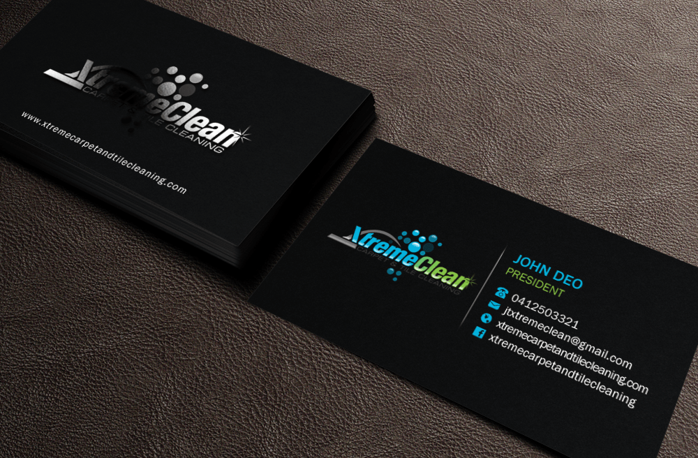 cleaning business card design