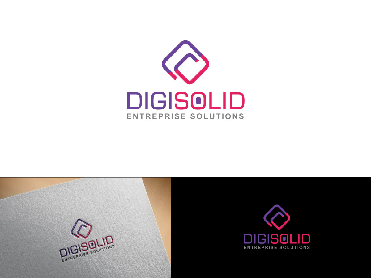 Logo Entreprise Design Serious Professional It Company Logo Design For Digisolid