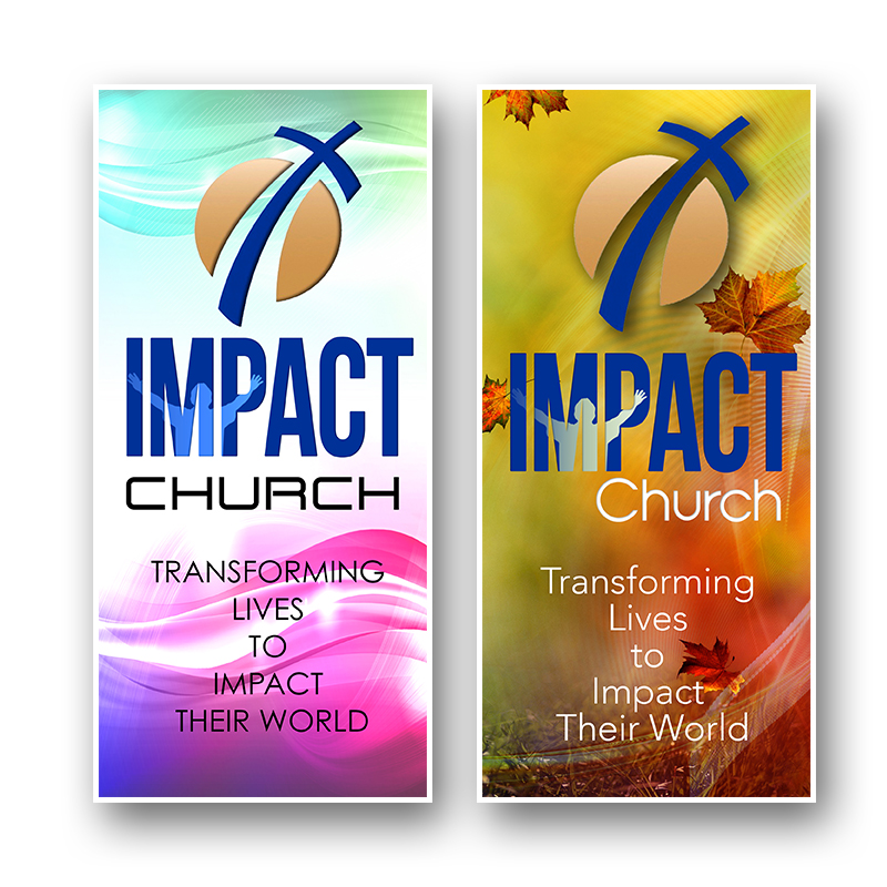 Playful, Modern, Religious Brochure Design for Impact Church by