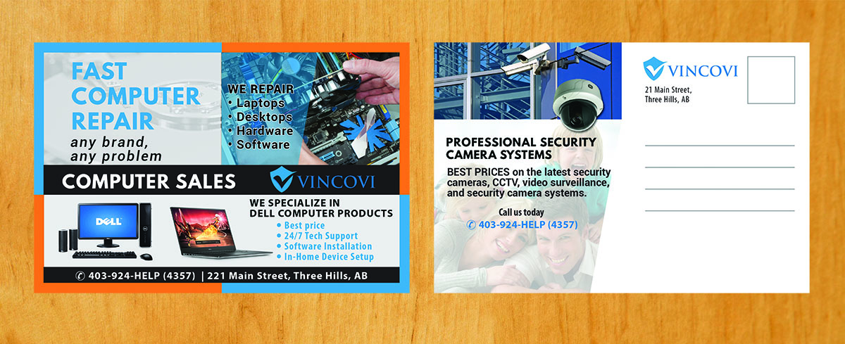 Modern, Playful, Computer Repair Flyer Design for VINCOVI Technology