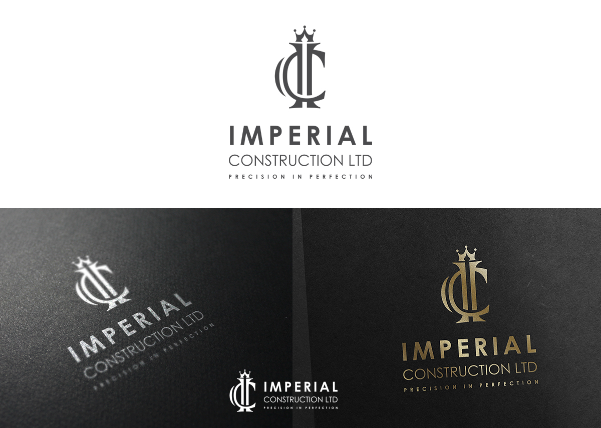 Construction Ltd Modern Professional Construction Logo Design For Imperial