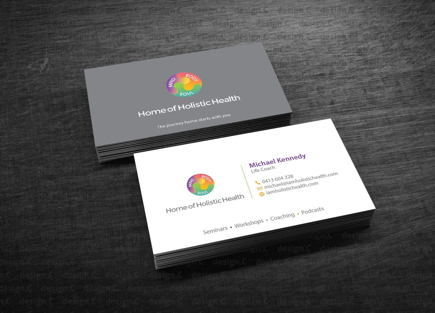 C En A Vesten Elegant Playful Life Coaching Business Card Design For Home Of