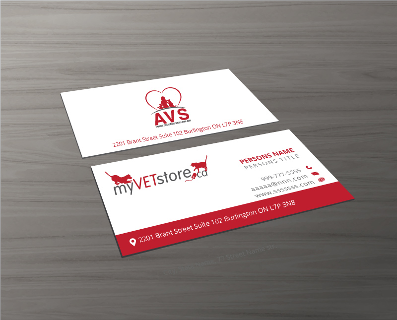 Bold, Playful, Veterinary Business Card Design for Acumenex