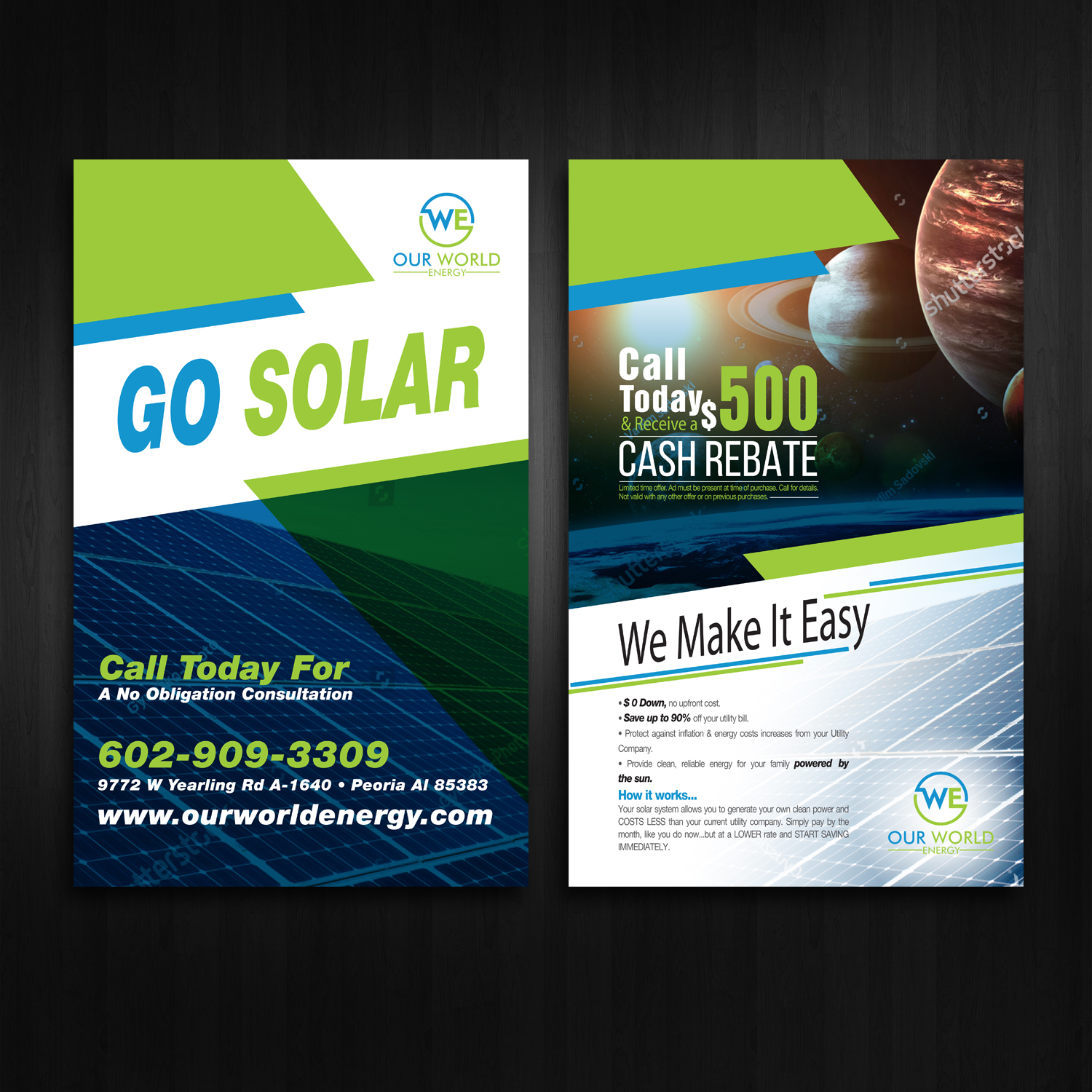 Climatisation Design Bold Modern Solar Energy Flyer Design For A Company By Kreative
