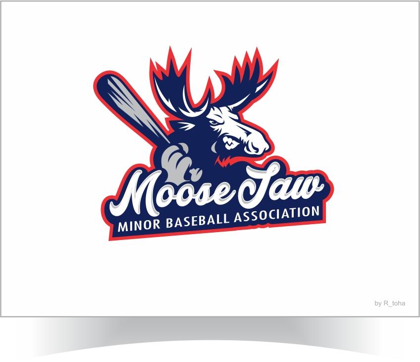 Elegant, Playful Logo Design for Moose jaw Minor Baseball