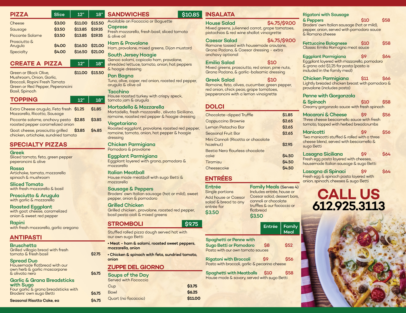 Cucina Italiana Dolci Pizza Delivery Flyer Design For Broders Cucina Italiana By Black