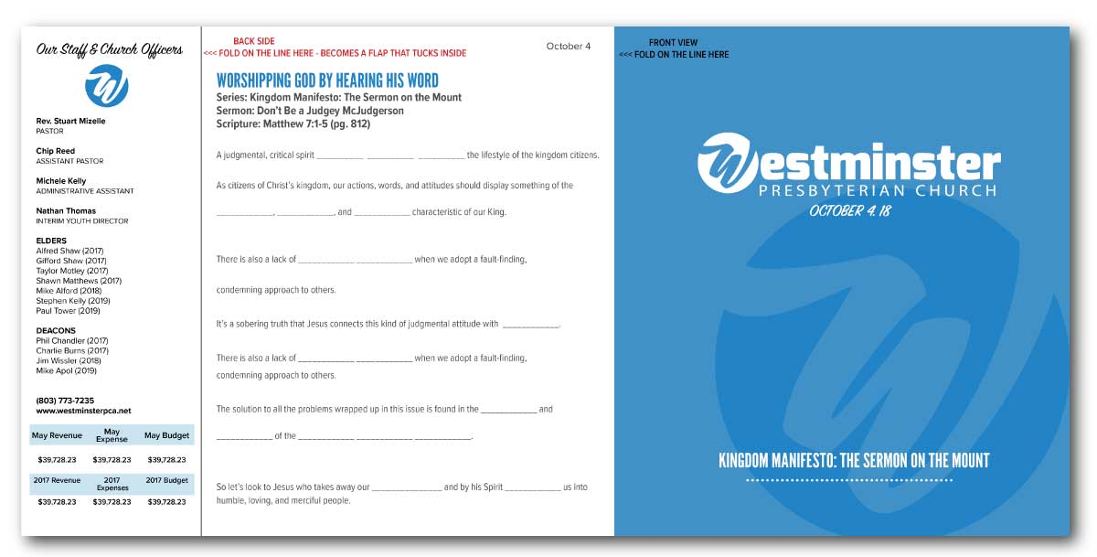 Conservative, Masculine, Religious Brochure Design for a Company by