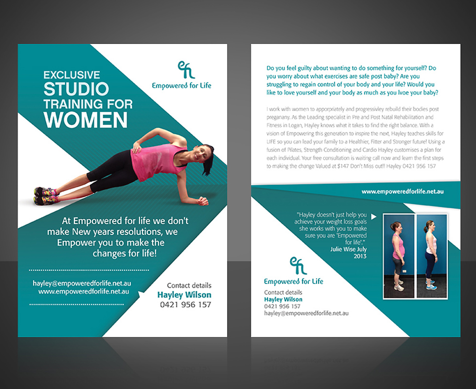 Modern, Upmarket, Training Flyer Design for a Company by