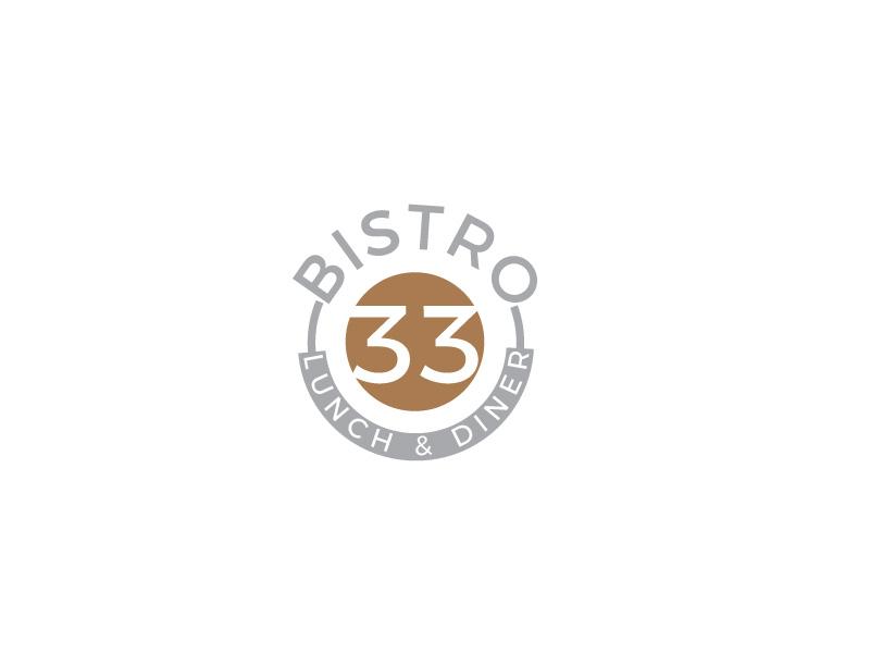 Elegant, Playful, Restaurant Logo Design for BISTRO 33 LUNCH  DINER